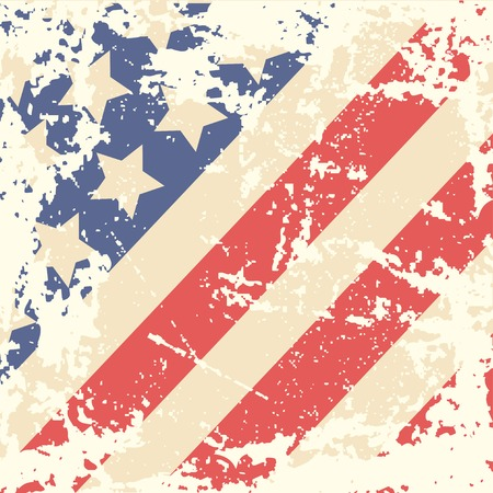Retro background with american flag  Vector illustration Vector