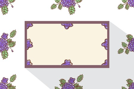 Card with abstract roses Vector