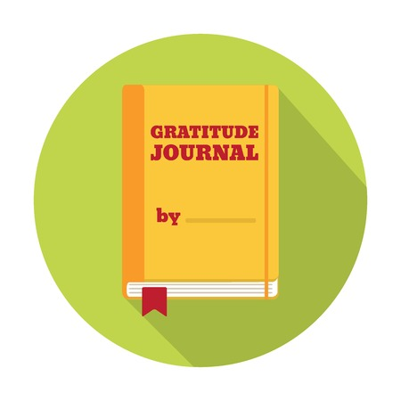 gratitude: Flat Style Icon with Long Shadow Illustration