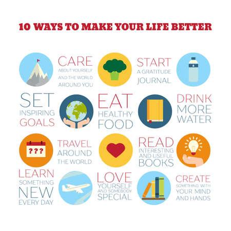 lifestyle icon: Flat Style Infographics Illustration