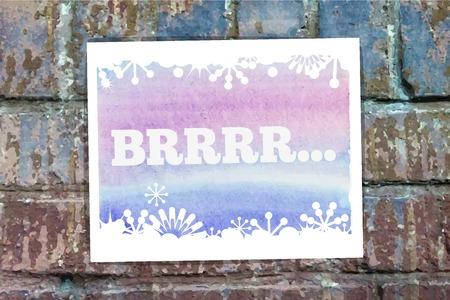 ice brick: Brrrr word on the wall