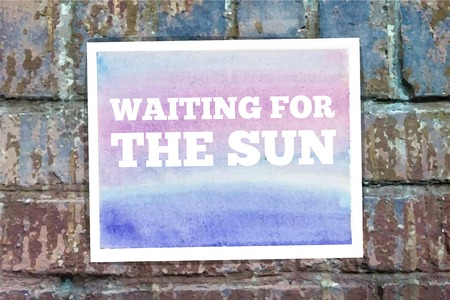 Waiting for the sun word on the wall  Vector