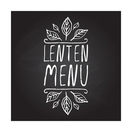 fond restaurant: Menu maigre main-esquiss� �l�ment typographique sur fond tableau. �tiquette des restaurants. Convient pour les annonces, enseignes, menus et des conceptions web de banni�res