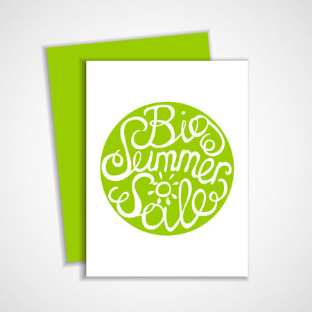 Card with lettering element. Big summer sale Vector