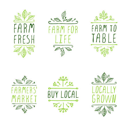 buy local: Farm product labels. Suitable for ads, signboards, packaging and identity and web designs. Locally grown. Farm for life. Farm to table. Buy local. Farmers market. Farm fresh.