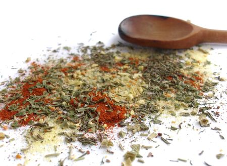 Close up of various mixed spices