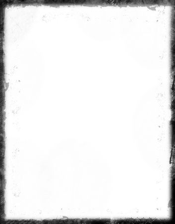 Black grunge border over white