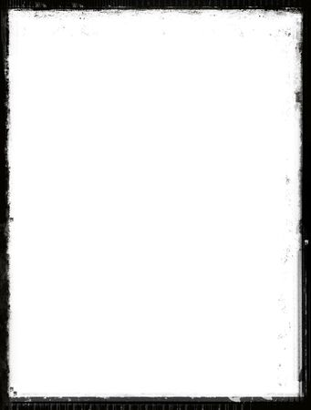Grunge black border over white Stock Photo - 552908