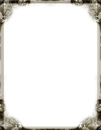 Grunge border over white