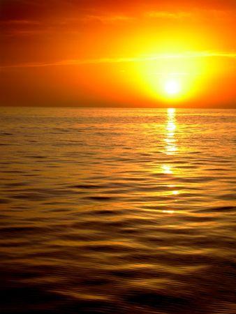 adriatic: Sunset over Adriatic sea