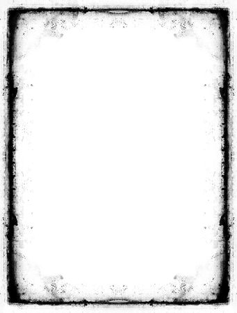 Computer designed grunge border over white