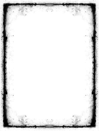 Computer designed grunge border over white Stock Photo - 557100