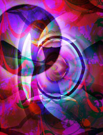 layer mask: Computer designed colorful grunge background