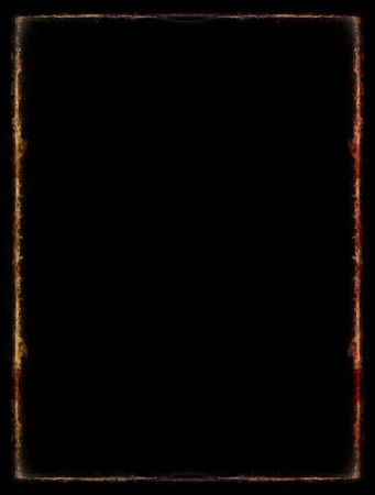 Computer designed grunge border over black Stock Photo - 612458