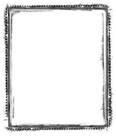 layered photo: Computer designed grunge border over white