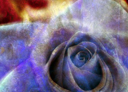 Computer designed grunge textured background - dreamy rose photo