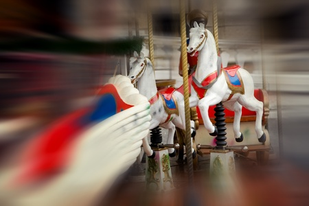 Vintage carousel - soft focus photo photo