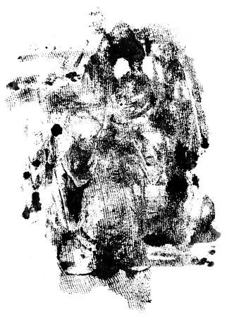 noise isolation: Grunge ink texture or design element  isolated on white background Stock Photo
