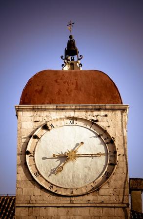 clocktower: Clock tower on old church