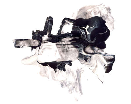 抽象的な水彩画と白で隔離ミクスト メディア デザイン要素。素晴らしいテクスチャまたはプロジェクトの背景 写真素材