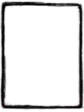 layer mask: Computer designed grunge border over white