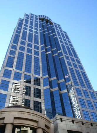 Skyscraper in downtown Seattle, Washington, United States photo