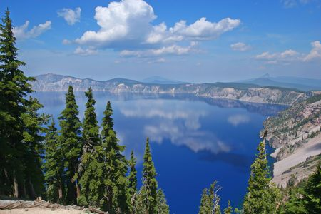 crater lake: Crater Lake National Park, Summer, Oregon, United States