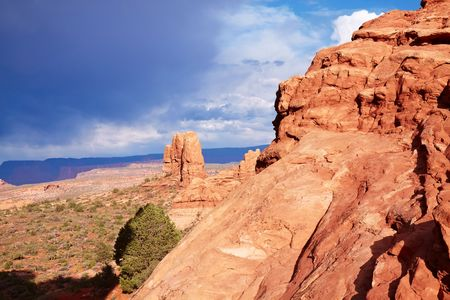 Red Desert, Arches National Park, Utah, USA photo