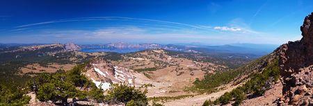 megapixel: Crater Lake 60 megapixel panorama, Crater Lake National Park, Oregon, United States