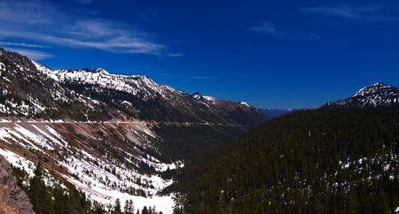 chinook: Paesaggio di montagna in inverno, Pass Chinook, Washington, USA