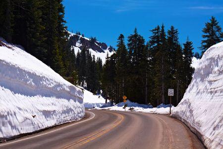 chinook: Inverno Winding Road, Pass Chinook, Washington, USA