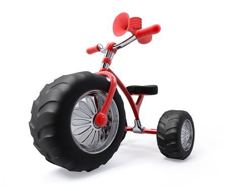 protectors: Super tricycle with three mega gigant protectors