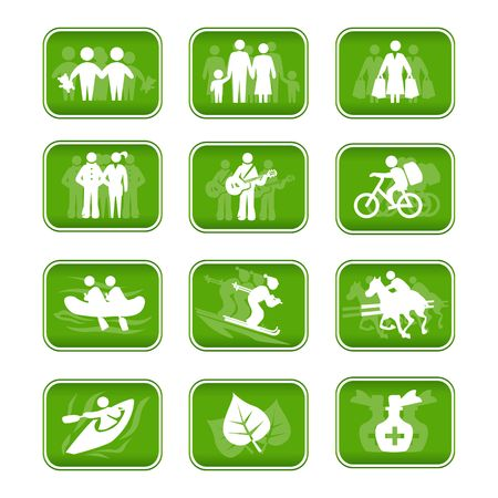 rasp: Icons  travel and sport  Stock Photo