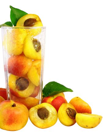 apricots in the glass isolated with vector clipping path included Stock Photo - 1356610