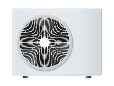 expel: air conditioner rasterized vector illustration