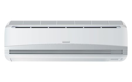 expel: air conditioner rasterized vector illustration isolated with clipping path