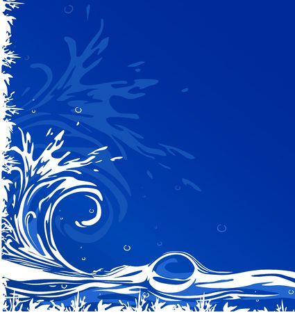 Water blue white grunge nice ornamental background photo