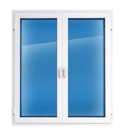 opening window: Ventana cerrada la plantilla de pl�stico