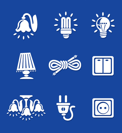 Icons home electric tools vector illustration white Vector