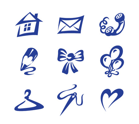 icons set home holiday over white background Vector
