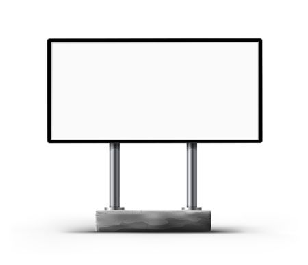 outdoor advertising construction: Blank street billboard template for outdoor advertisment design illustration Stock Photo