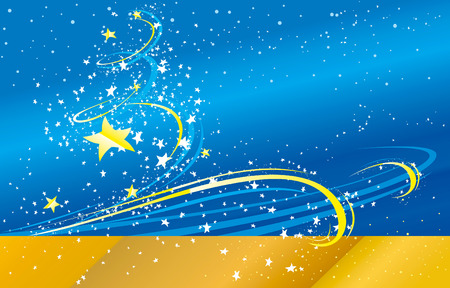 blue vector background with stars for greeting cards Vector