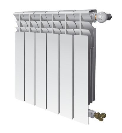 heating: metall radiator for panel heating of house vector illustration Illustration