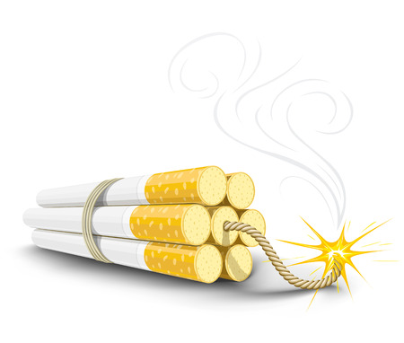 vector dinamite made from cigarettes, illustration shows danger of smoking Stock Vector - 3291253