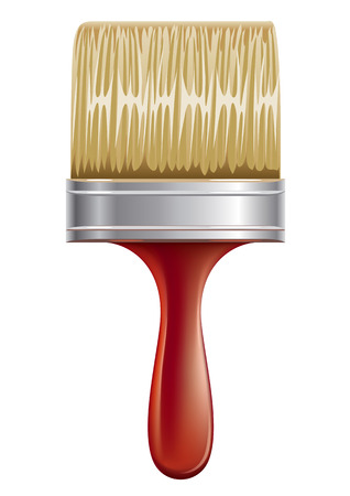 new vector paint brush working tool isolated on white background Vector