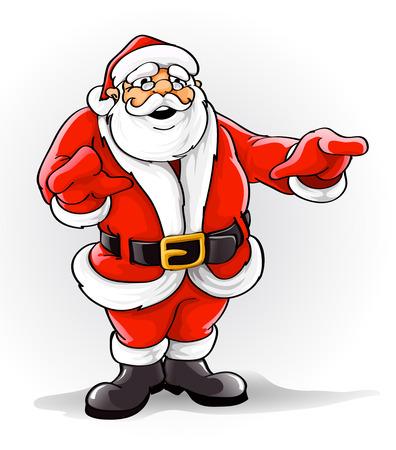 one year old: Vectores de Santa Claus cantando la canci�n de Navidad ilustraci�n