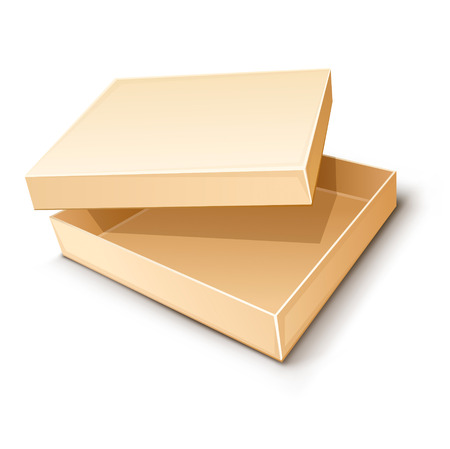 empty paper box vector illustration isolated on white background Stock Vector - 3513123