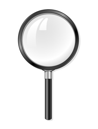 vector magnifying glass tool isolated on white background Illustration