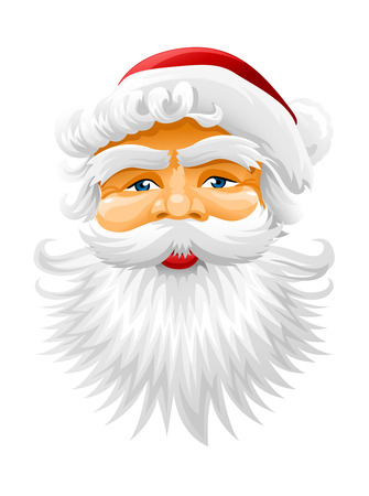 face of Santa Claus vector illustration isolated Stock Vector - 3836020