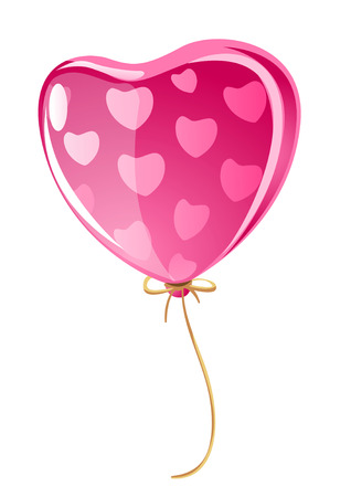 vector illustration balloon in form of love heart Vector